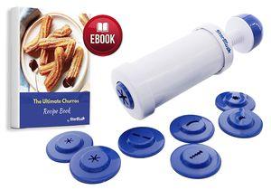 StarBlue Churrera Churro Maker Einfaches Werkzeug für tiefes Churro trocknen in 8 verschiedenen Formen
