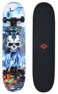 Schildkröt Skateboard Grinder 31, Premium Komplett-Board Design: Inferno
