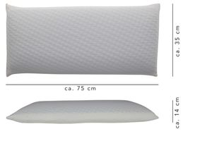 Relaxsan Orthopädisches Nackenkissen aus Visko-Schaum (Memory Foam) - Nacken stützendes Visco-Kopfkissen 40x80-11cm hoch - Kissen inkl. waschbarer Kissenbezug (Gel Breathe)