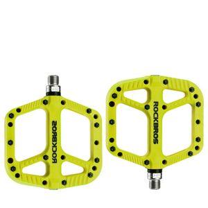 ROCKBROS MTB Fahrrad Rennrad Pedale Nylon Plattform Rutschfest Flat 1 Paar cyan