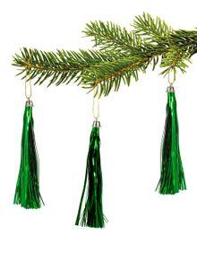 10  Lamettini Grün Lametta Anhänger Weihnachtsanhänger