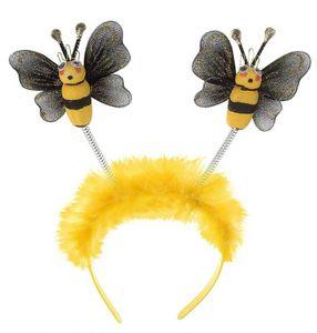 K80540861 gelb-schwarz Damen Haarreif Biene Bienenkostüm Bienenhaarreif