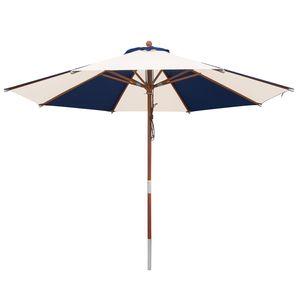 anndora Sonnenschirm 350 cm rund - 3,5 m | Blau