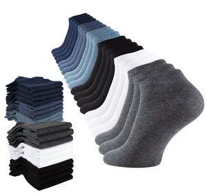 Cotton Prime® Sneaker Socken 20 Paar Blau/Schwarz/Weiss/Grau 43-46