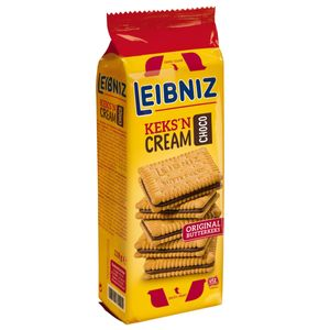 Leibniz Keks'n Cream Choco Butterkeks mit feinster Schoko Creme 228g