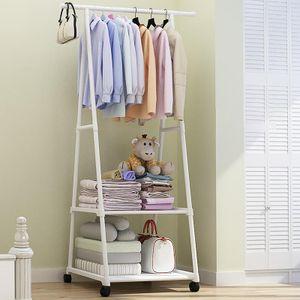160cm Kleiderständer Garderobenständer Kleidderstange Regal Kleider Stange, Weiß