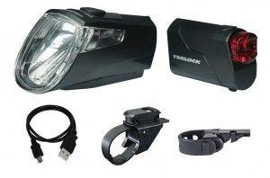 LED-Akku-Leuchten Set Trelock I-go Eco LS 360/ 720 schwarz mit Halter, 25 Lux