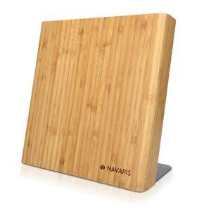 Navaris Messerhalter magnetisch aus Bambus