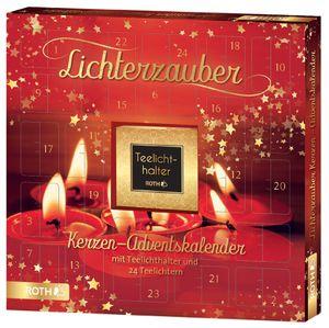 """ROTH Kerzen-Adventskalender """"Lichterzauber"""" bestückt mit 24 Lichtern"""