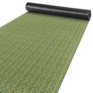 Premium Läufer Küchen Teppich rutschfest waschbar Flechtoptik Grün 65x200cm