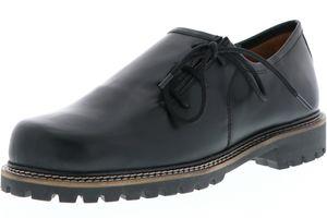 Vista Damen Herren Haferlschuhe Trachtenschuhe Echtleder schwarz, Größe:41, Farbe:Schwarz