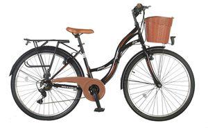 26 Zoll Kinder City Damen Mädchen Fahrrad Mädchenfahrrad Damenfahrrad Cityfahrrad Rad Bike SHIMANO 21 GANG STVO Beleuchtung STVO FANTASIA Lady SCHWARZ Braun TY2021