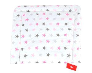 BABYLUX Wickelauflage Baby Wickeltisch Wickelunterlage 80x70 cm 93 - Sterne Rosa