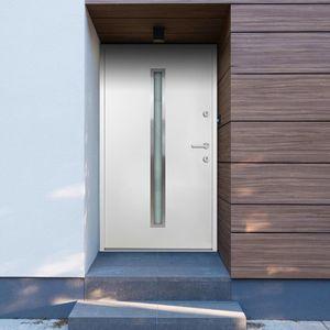 Haustür Tür Zimmertür   Aluminium Weiß 110x207,5 cm - 99664