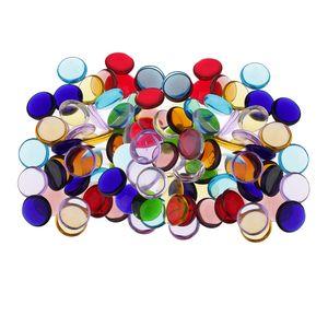 280pcs Runde Form Klarglas Mosaik Fliesen Stücke Für Kunst DIY Handwerk