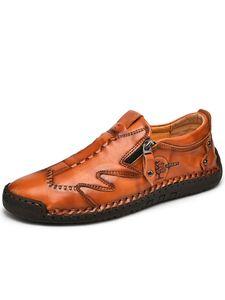 Herren Mode Freizeitschuhe Müßiggänger Flache Runde Zehenschuhe Atmungsaktive Einfarbige Erbsenschuhe,Farbe: Rotbraun ,Größe:45