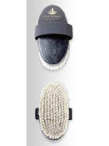 Kopfbürste aus weichem Rosshaar Haas schwarz 140x65mm