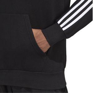 adidas Kapuzenpullover Herren mit wärmenden Fleece innen, Größe:L, Farbe:Schwarz