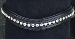 Stirnband -Wave- mit synthetischen Brillanten, Farbe:schwarz, Groesse:Vollblut