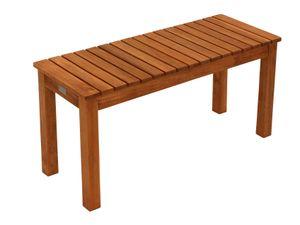 DEGAMO Gartenbank Hockerbank Sitzbank MERIDA aus Holz, 78cm Breite, Eukalyptusholz geölt