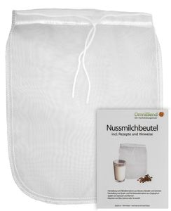 yayago Nussmilch Beutel zur Herstellung veganer Milchalternativen  und vielen weiteren Anwendungsmöglichkeitenaus 100% Nylon