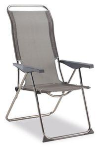 Silvertree Camping-Sessel aus Aluminium, grau