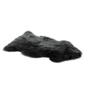 Vendôme Premium Lammfell Schaffell 95cm, ökologisch gegerbt, Flauschiger Teppich, Kuschelfell, Farbe: Grau