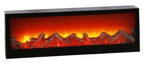 HI 57081 Kamin Laterne mit 10 warmweissen LEDs 60x10x20cm