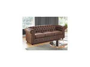 3-Sitzer-Sofa Chesterfield Microfaser DANIEL - Vintage Look