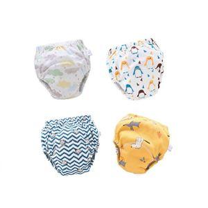 4er Set Baby Trainingshosen Töpfchen Unterwäsche Kleinkinder Windelhosen Toilettentraining Unterwäsche für 6-12KG Babys