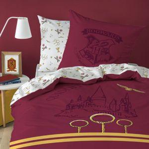 Harry Potter Wende Bettwäsche Hogwarts Wappen 2tlg rot 135 x 200 cm 80 x 80 cm