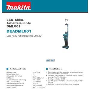 Makita DEADML801 Akku-Lampe, 18V, -solo-