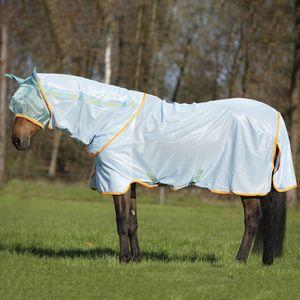 Horseware Amigo Bug Rug - Azure Blue/Aqua&Orange, Größe:155