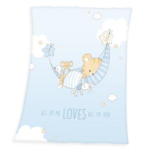 Little Tiger Soft Peach Decke / Babydecke, 75x100 cm
