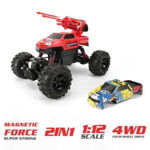 1/12 RC Auto 4WD Spielzeugautos 2 in 1 W°îste Buggy Auto Off Road RC Auto 2,4 GHz High Speed RC Auto Gel?ndewagen Truggy Elektrisches Kletterauto f°îr Kinder