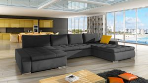 Mirjan24 Ecksofa Caro, U-Form Couch, Eckcouch mit Bettkasten und Schlaffunktion, Polsterecke, Couchgarnitur, Farbauswahl, Bettsofa für Wohnzimmer (Mono 247 + Mono 247 + Mono 236)