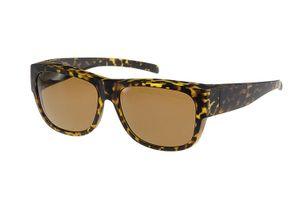 FitOfar sonnenbrille braun Damen mit brauner Linse VZ0024B