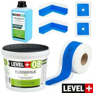 Dicht Set für Badabdichtung Dusche Tiefgrund Dichtband Flüssigfolie 7 kg SET302