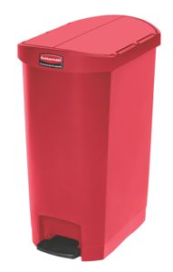 Slim Jim Step On Container End Step Kunststoff 50 Liter, Rubbermaid, Farbe:Rot