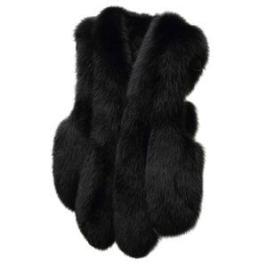 Plus Size Damen Slim Weste Gilet Outwear Warme Kunstpelz Weste Mantel Weste Größe:M,Farbe:Schwarz