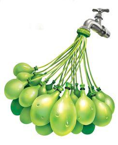 Splash Toys 31115 - 100 Wasserbomben in 60 Sekunden selbstschließend ohne Knoten