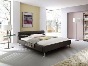 Meise Möbel 335-10-30000 Anello Polsterbett ; Farbe: Braun ; Maße (BxLxH): 140 cm x 200 cm x 70 cm