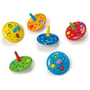 Small Foot 7597 Kreisel 'Ufo' mit Holzkugeln, mehrfarbig, 6-teilig (1 Set)