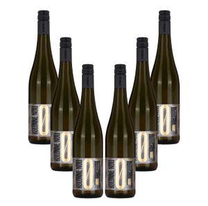 Kolonne Null - 6x 0% Alkohol - Riesling mit Drehverschluss - 6er Set Alkoholfreier Riesling 0,75L- [Enthält Sulfite]