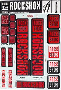ROCKSHOX Dekorsatz, Decal Kit für Ø 35mm Federgabeln, rot