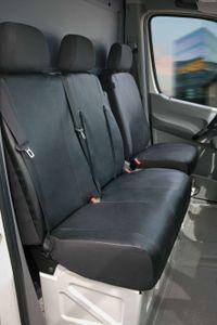 Walser Sitzbezüge für Mercedes Sprinter und VW Crafter, Einzelsitz und Doppelbank vorne aus Kunstleder ab BJ 05/2006 - heute, 11496