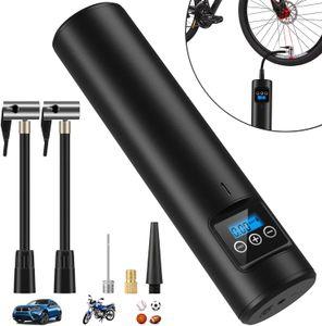 Elektrische Digitale Reifenpumpe mit 2000mAh Akku 150PSI Fahrradluftpumpe Kompressor mit LCD-Bildschirm