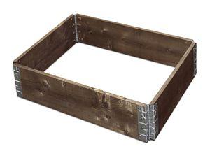 Gartenfreude Hochbeet Pflanzbeet 60 x 80 x 19,5 cm aus Fichtenholz, erweiterbar, grau lasiert, W4650-1003-1009