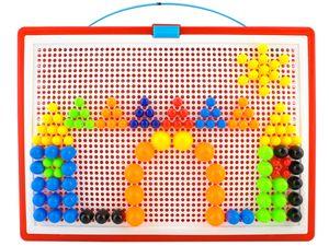 Mosaik Steckspiel 300 Bunte Stecker Koffer  28,7x 3x24cm Puzzle Spaß Kreativität  4501