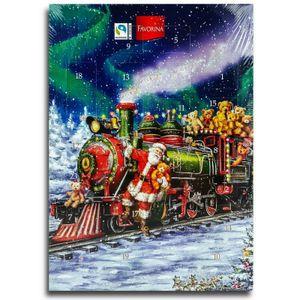 Santa Weihnachtszug - Adventskalender mit Schokolade, Schoko Weihnachts Kalender